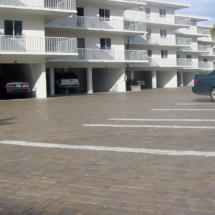 Condo Brick Paver Parking Lot