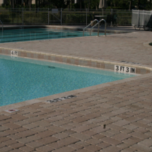 Commercial Pool Brick Paver deck