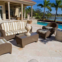 Marble Travertine Decks - Marble Patio designs