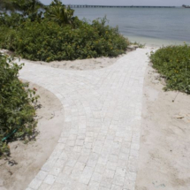 Marble walkway