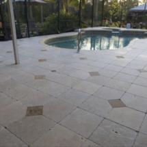 Marble pool decks