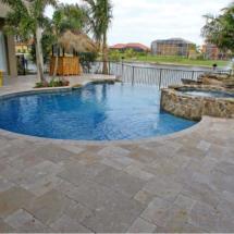 Marble pool deck