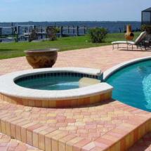 Brick paver outdoor area