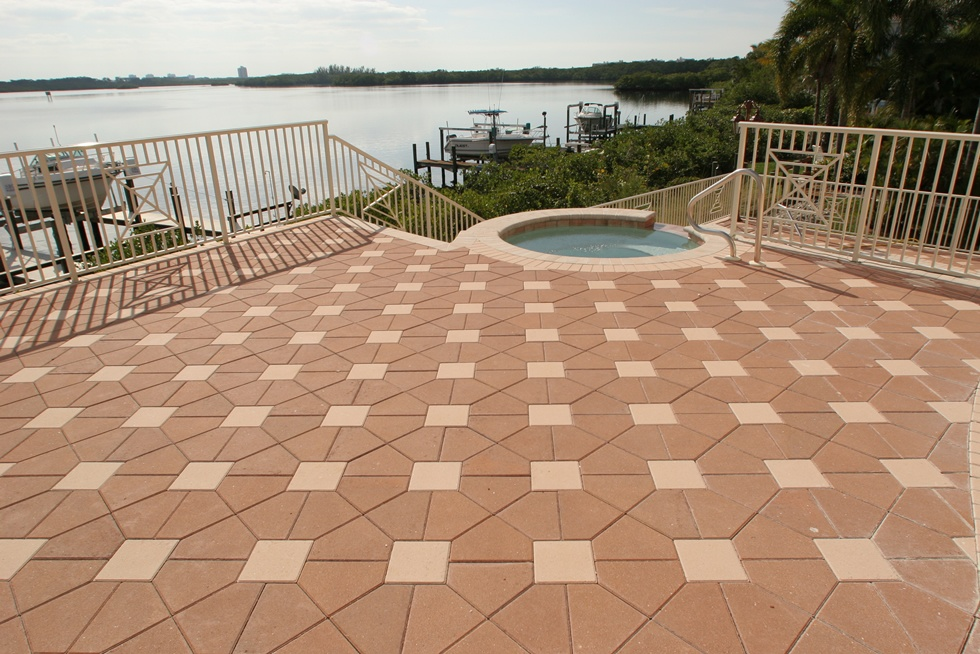 Custom Brick Paver Deck