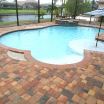 Custom Brick Paver Pool Patio