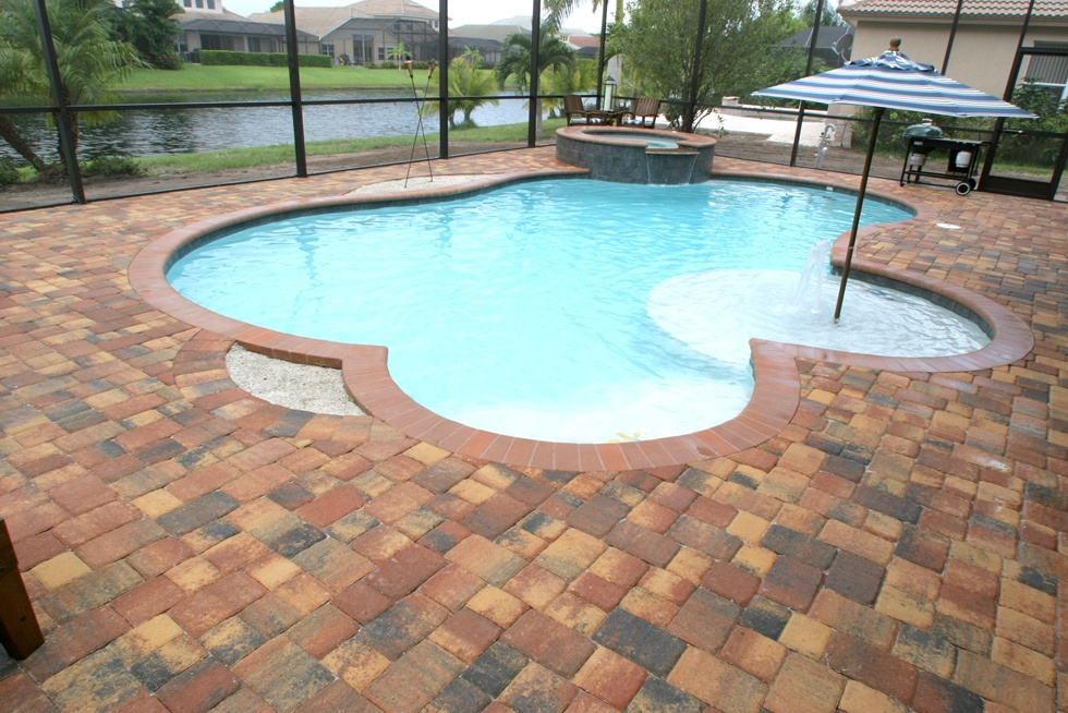 Custom Brick Paver Pool Patio