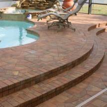 Custom Brick Paver Pool Deck