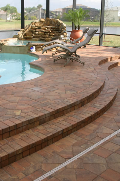 Custom Brick Paver Pool Deck