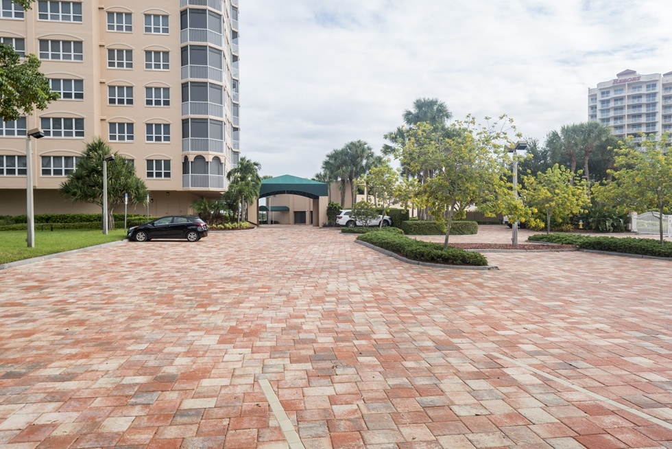 Brick Paver Parking Lot