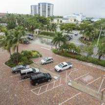 brick paver parking area