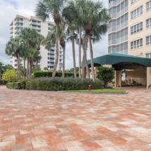 brick paver hotel entrance