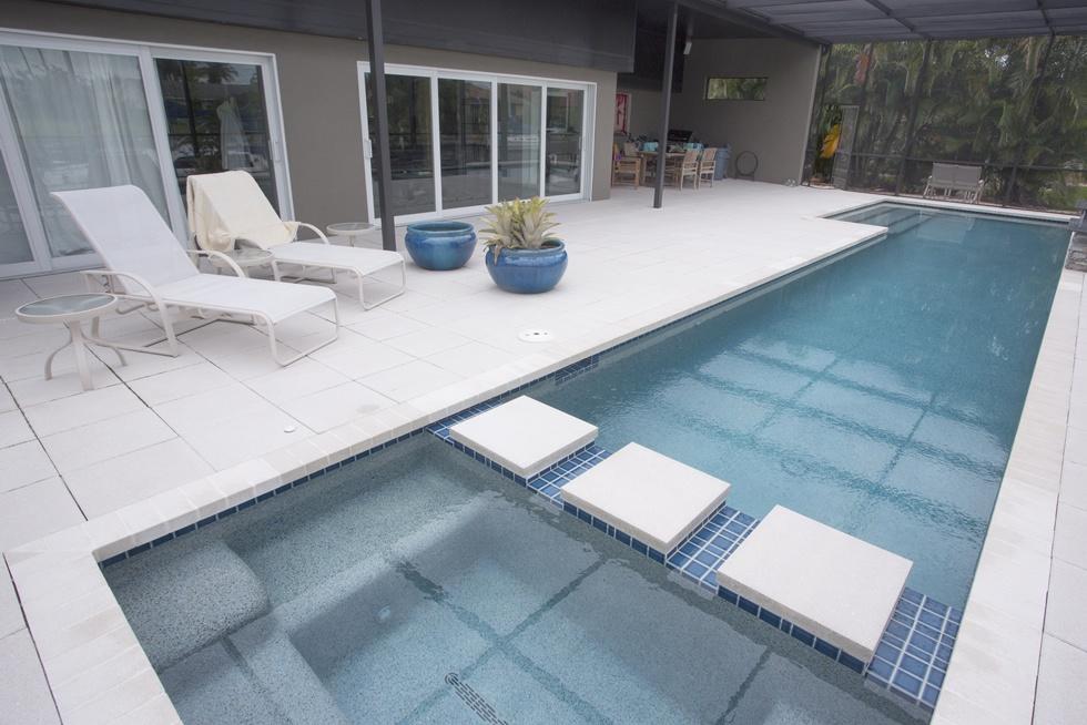 Custom Pool Design - Brick Pavers