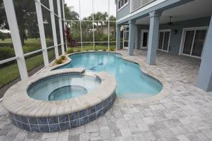 Custom Pool Deck Brick Pavers
